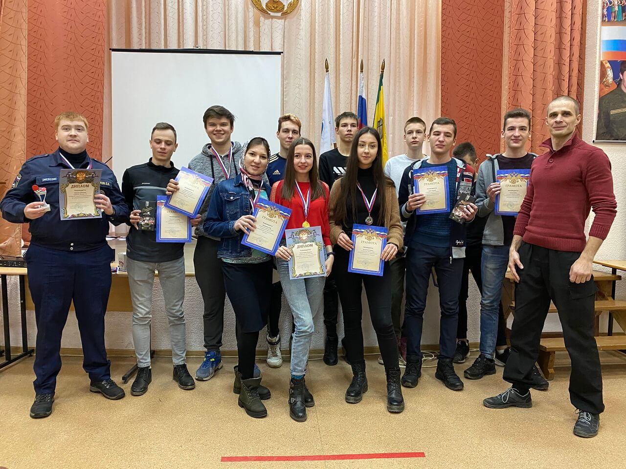Награждение участников студенческих соревнований