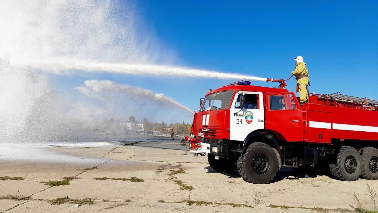 Пожарные учения в аэропорту