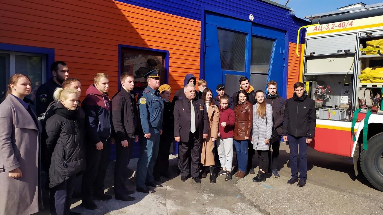 Встреча студентов с председателем Совета ветеранов пожарных и спасателей Пензенской области